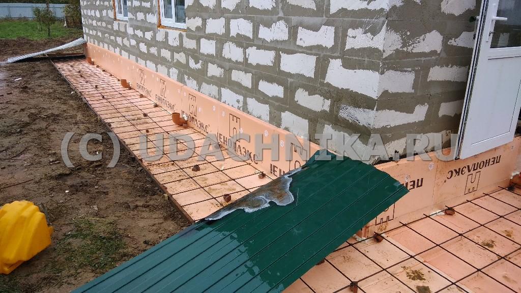 Отмостка вокруг дома своими руками из бетона с утеплением 45